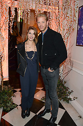 PIPS TAYLOR and ALISTAIR GUY at the launch of Gordon's 'Ten Green Bottles' by Temperley London held at Temperley London Flagship, 27 Bruton Street, London on 6th November 2013.
