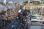 ROUTE DU RHUM 2006, St Malo, France. Presentation of all the  competitors on the dock. 26/10/06. Preparations before the start on 29/10/06.