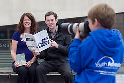 No Fee for Repro: 02/07/2012.?RAP for YAP?.Young film maker Daniel Delaney, aged 16 years from Cavan who have both availed of the YAP (Youth Advocates Programme) Ireland intensive support service is pictured launching the YAP Ireland Annual Report with CEO Siobhan O'Dwyer and Dermot Fagan, YAP Ireland advocate from Cavan. Pic Andres Poveda..The YAP Ireland Annual Report showed that 475 young people and families received an intensive support service in 2011 and some of outcomes data showed that 82% showed an improvement in risky behaviour and 79% in school attendance.