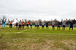 Players of ND Mura celebrates after win football match between ND Mura and ND Ilirija 1911 in Round #18 of 2.SNL 2017/18 on March 11, 2018 in Mestni stadion Fazanerija , Murska Sobota , Slovenia. Photo by Mario Horvat / Sportida
