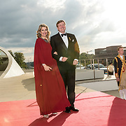 LUX/Luxemburg/20180524 - Staatsbezoek Luxemburg dag 2, Koning Willem Alexander en koningin Maxima bij de contraprestatie