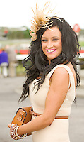 Orla Chester from Dublin at the Friday evening Meeting of the Galway Races. Photo:Andrew Downes