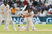 Ben Stokes of England sweeps the ball during the 3rd International Test Match 2018 match between England and India at Trent Bridge, West Bridgford, United Kingdon on 21 August 2018.