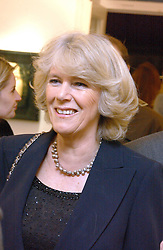 HRH the DUCHESS OF CORNWALL at an exhibition of artist Jonathan Yeo's portrait paintings held at Eleven, 11 Eccleston Street, London SW1 on 16th February 2006.<br />