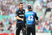 New Zealand Tim Southee and New Zealand Brendon McCullum during the Royal London One Day International match between England and New Zealand at the Oval, London, United Kingdom on 12 June 2015. Photo by Phil Duncan.