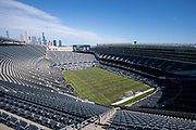General overall view of Soldier Field before an international friendly between USA and Korea in Chicago, Sunday, Oct. 6, 2019, in Chicago. USWNT tied the Korea Republic 1-1. (Max Siker/Image of Sport)