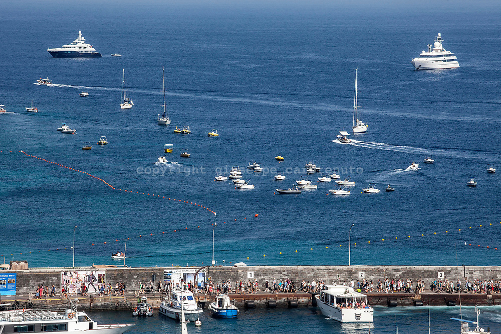 """04 August 2017, Capri Italy - A view of the port of """"Marina Grande""""."""