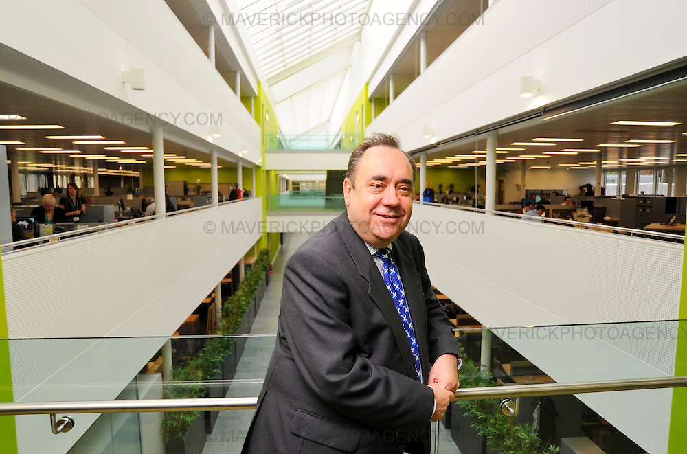 Scotland's First Minister Alex Salmond was in Livingston today to officially open West Lothian's new £50 million Civic Centre.  The centre is thought to be the largest public sector partnership in the UK housing seven of the county's services from the Divisional Police Headquarters to the Community Health and Care Partnership.