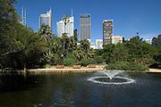 View from Botanic Gardens to City Skyline, Sydney,Australia