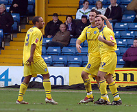Photo: Paul Greenwood.<br />Bury FC v Wycombe Wanderers. Coca Cola League 2. 17/02/2007. Wycombe's Scott McGleish, right, celebrates scoring the second goal