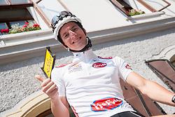 Jan Polanc (SLO) of Radenska during Stage 3 from Skofja Loka to Vrsic (170 km) of cycling race 20th Tour de Slovenie 2013,  on June 15, 2013 in Slovenia. (Photo By Vid Ponikvar / Sportida)
