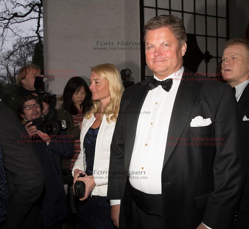 OSLO,  20140301: Jan Haudeman Andersen og Marthe Krogh giftet seg i fra Ris kirke. Masse kjendis- og finansvenner var tilstede. Tore Aksel Voldberg.  FOTO: TOM HANSEN