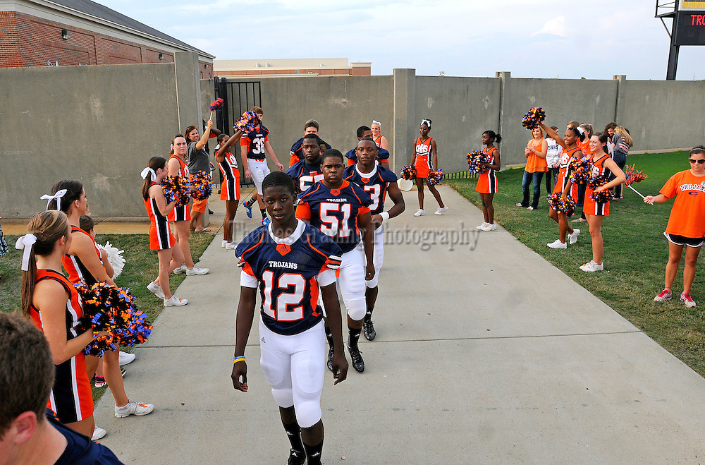 Charles Henderson players participate in the Trojan Walk before a football game in Troy, Ala., Friday, Sept. 28, 2012. (Photo/Thomas Graning)