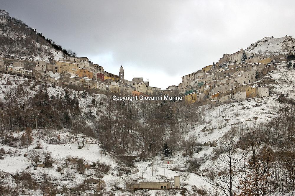 San Fele (PZ) - Panorama con neve.
