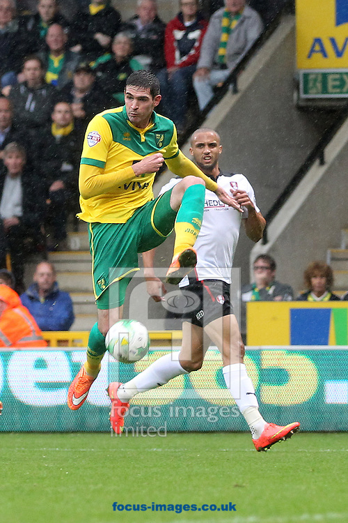 Kyle Lafferty of Norwich in action during the Sky Bet Championship match at Carrow Road, Norwich<br /> Picture by Paul Chesterton/Focus Images Ltd +44 7904 640267<br /> 04/10/2014