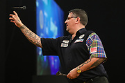 Gary Anderson during the BWIN Grand Slam of Darts at Aldersley Leisure Village, Wolverhampton, United Kingdom on 18 November 2018.