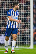Neal Maupay (Brighton) during the Premier League match between Brighton and Hove Albion and Chelsea at the American Express Community Stadium, Brighton and Hove, England on 1 January 2020.