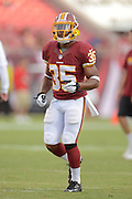Washington Redskins running back Chris Thompson (35) prior to an NFL preseason game against the Tampa Bay Buccaneers at Raymond James Stadium on Aug. 29, 2013 in Tampa, Florida. <br /> <br /> &copy;2013 Scott A. Miller