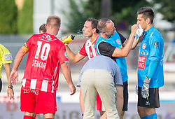 21.07.2017, Franz Fekete Stadion, Kapfenberg, AUT, 2. FBL, KSV 1919 vs FC Liefering , 1. Runde, im Bild v.l.: David Sencar (KSV 1919), Jorge Moral Gonzales (KSV 1919), Paul Gartler (KSV 1919) // during the Austrian Erste Liga Match, 1th Round, between KSV 1919 and FC Liefering at the Franz Fekete Stadium, Kapfenberg, Austria on 2017/07/21, EXPA Pictures © 2017, PhotoCredit: EXPA/ Dominik Angerer