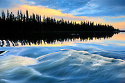 Grass River and boreal forest<br /> Pisew Falls Provincial Park<br /> Manitoba<br /> Canada