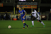AFC Wimbledon midfielder Dean Parrett (18) during the EFL Trophy match between AFC Wimbledon and Plymouth Argyle at the Cherry Red Records Stadium, Kingston, England on 4 October 2016. Photo by Stuart Butcher.