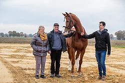 Rombouts Stijn , BEL,  Lars van de Hoenderheide, Jan en Tinne SIps-Van Deuren<br /> Stal Rombouts - brecht 2019<br /> © Hippo Foto - Dirk Caremans<br /> 23/11/2019