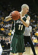 04 JANUARY 2007: Michigan State guard Drew Neitzel (11) in Iowa's 62-60 win over Michigan State at Carver-Hawkeye Arena in Iowa City, Iowa on January 4, 2007.