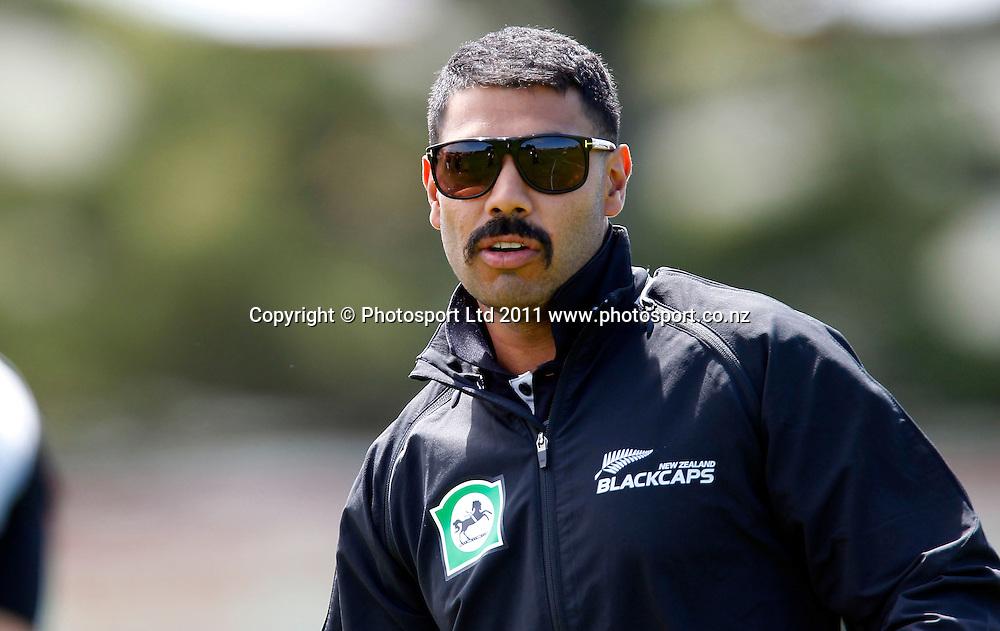 Jiten Patel during the HRV Cup Cricket Blackcaps Day, Papatoetoe Recreation Centre, Auckland, 10 November 2011. Photo: Simon Watts / photosport.co.nz