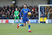 AFC Wimbledon defender Callum Kennedy (23) controlling ball during the EFL Sky Bet League 1 match between AFC Wimbledon and Southend United at the Cherry Red Records Stadium, Kingston, England on 1 January 2018. Photo by Matthew Redman.