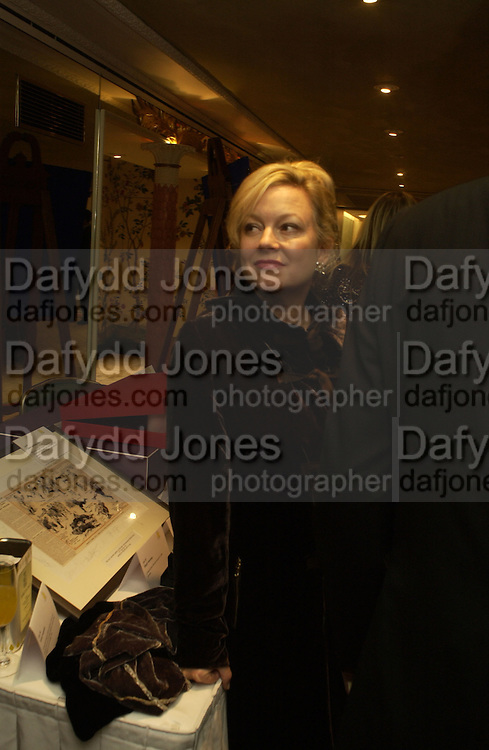 Kay Saatchi. Chain of Hope 10 th Ball. Dorchester. London. 1 November  2005. ONE TIME USE ONLY - DO NOT ARCHIVE © Copyright Photograph by Dafydd Jones 66 Stockwell Park Rd. London SW9 0DA Tel 020 7733 0108 www.dafjones.com