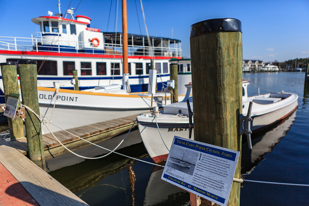 St. Michaels, MD, USA - March 30, 2013: The Chesapeake Bay Maritime Museum is located in St. Michaels, Maryland, and includes a collection of Chesapeake Bay artifacts, exhibitions, and boats.