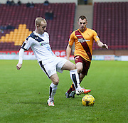 Dundee&rsquo;s Nicky Low and Motherwell&rsquo;s Liam Grimshaw - Motherwell v Dundee - Ladbrokes Premiership at Fir Park<br /> <br /> <br />  - &copy; David Young - www.davidyoungphoto.co.uk - email: davidyoungphoto@gmail.com