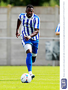 Amari Morgan-Smith during the Pre-Season Friendly match between Weston Super Mare and Cheltenham Town at the Woodspring Stadium, Weston Super Mare, United Kingdom on 18 July 2015. Photo by Carl Hewlett