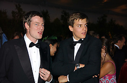 Left to right, ZAC GOLDSMITH and his brother JETHRO GOLDSMITH at the British Red Cross London Ball held at The Room by The River, 99 Upper Ground, London SE1 on 16th November 2006.<br />