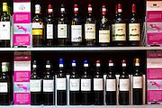 Rioja red wines Vina Ardanza, Vina Arana, La Rioja Alta, Mazuela de la Quinta, Miguel Merina, Polus, Torre de Ona, in Pepita Uva shop in Laguardia, Rioja-Alavesa, Spain