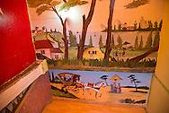 Turkey. Istambul.  mural painting in Cafe Sinan