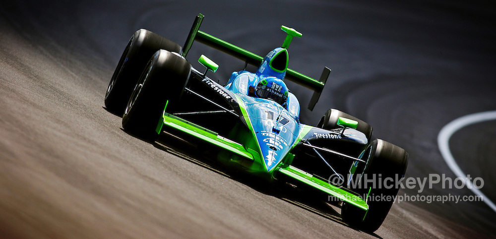 IndyCar driver Jeff Simmons practices for the Indy 500. Photo by Michael Hickey