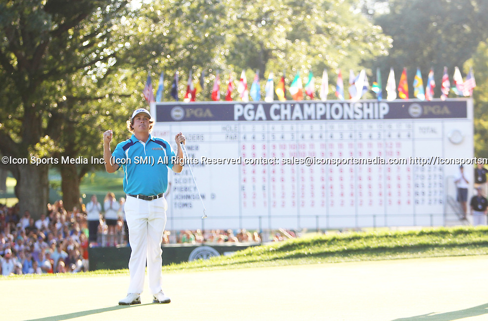 August 11 2013 Jason Dufner wins the 95th PGA Championship at Oak Hill Country Club in Rochester, New York.