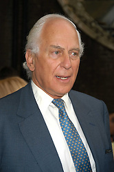 SIR EVELYN DE ROTHSCHILD at the Tatler Summer Party in association with Moschino at Home House, 20 Portman Square, London W1 on 29th June 2005.<br />