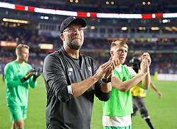 NEW YORK, NEW YORK, USA - Wednesday, July 24, 2019: Liverpool's manager Jürgen Klopp on a lap of honour after a friendly match between Liverpool FC and Sporting Clube de Portugal at the Yankee Stadium on day nine of the club's pre-season tour of America. The game ended in a 2-2 draw. (Pic by David Rawcliffe/Propaganda)