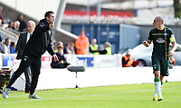 27/09/14 SCOTTISH PREMIERSHIP<br /> ST MIRREN v CELTIC <br /> ST MIRREN PARK - PAISLEY<br /> Celtic manager Ronny Deila barks the orders to Scott Brown as St Mirren score an equaliser