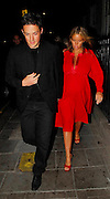 02.MAY.2007. LONDON<br /> <br /> DAVE GARDNER AND DAVINIA TAYLOR LEAVING DAVID BECKHAM&rsquo;S BIRTHDAY PARTY AT CIPRIANIS RESTURANT.<br /> <br /> BYLINE: EDBIMAGEARCHIVE.CO.UK<br /> <br /> *THIS IMAGE IS STRICTLY FOR UK NEWSPAPERS AND MAGAZINES ONLY*<br /> *FOR WORLD WIDE SALES AND WEB USE PLEASE CONTACT EDBIMAGEARCHIVE - 0208 954 5968*