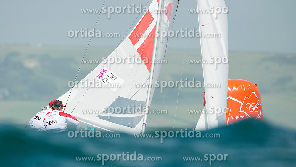 02.08.2012, Bucht von Weymouth, GBR, Olympia 2012, Segeln, im Bild .HESTBAEK Michael, Olesen Claus, (DEN, Star) // during Sailing, at the 2012 Summer Olympics at Bay of Weymouth, United Kingdom on 2012/08/02. EXPA Pictures © 2012, PhotoCredit: EXPA/ Juerg Kaufmann ***** ATTENTION for AUT, CRO, GER, FIN, NOR, NED, POL, SLO and SWE ONLY!