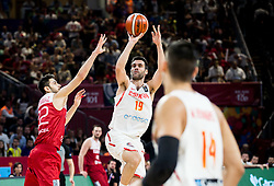 Furkan Korkmaz of Turkey vs Fernando San Emeterio of Spain during basketball match between National Teams of Spain and Turkey at Day 11 in Round of 16 of the FIBA EuroBasket 2017 at Sinan Erdem Dome in Istanbul, Turkey on September 10, 2017. Photo by Vid Ponikvar / Sportida