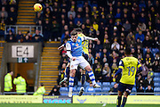 Walsall midfielder Adam Chambers (7) heads the ball during the EFL Sky Bet League 1 match between Oxford United and Walsall at the Kassam Stadium, Oxford, England on 31 December 2016. Photo by Dennis Goodwin.