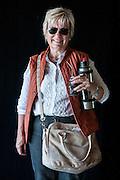 Javier Calvelo/ URUGUAY/ MONTEVIDEO/ FOTOGRAFIA/ Expoprado - Exposicion Rural del Prado de Montevideo/ Proyecto documental sobre la identidad, lo nacional, lo Uruguayo. Se trata de retratos simples mirando a camara y con un fondo neutro. Les pregunto a los fotografiados como quieren ser recordados en el futuro y de que localidad del Uruguay son.<br /> El titulo esta basado en la obra de Raymond Firth, Tipos Humanos. (Raymond William Firth, ( 1901-2002) fue un etn&oacute;logo neozeland&eacute;s profesor de Antropolog&iacute;a en la London School of Economics, es uno de los fundadores de la antropolog&iacute;a econ&oacute;mica brit&aacute;nica). <br /> En la foto:  Tipos Humanos en Expoprado, Nicole Hareau, Mercedes. Foto: Javier Calvelo<br /> nihareau@adinet.com.uy <br /> 2013-09-09 dia lunes