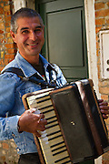 Accordian player on the streets of Venice, Italy