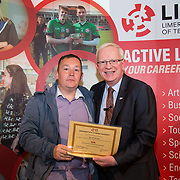 24.05.2017      <br /> LIT GO4IT and GIVE Volunteer Awards 2017. Pictured receiving their GIVE Award from Prof. Vincent Cunnane, President LIT was David Carroll. Picture: Alan Place.
