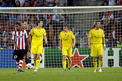 12-09-2006 VOETBAL: CHAMPIONS LEAGUE: PSV - LIVERPOOL: EINDHOVEN<br /> PSV en Liverpool eindigt zoals ze begonnen zijn 0-0 / Daniel Agger<br /> ©2006-WWW.FOTOHOOGENDOORN.NL