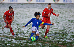 CESENA, ITALY - Tuesday, January 22, 2019: Italy's captain Sara Gama during the International Friendly between Italy and Wales at the Stadio Dino Manuzzi. (Pic by David Rawcliffe/Propaganda)
